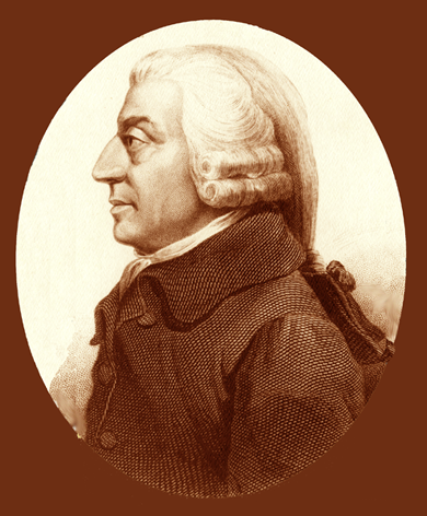 Adam Smith (1723, 1790) economista y filósofo escocés.